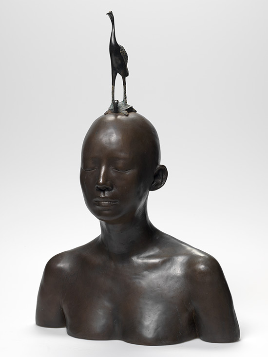 Ah Xian, China/Australia b.1960 / Metaphysica: Immortal on deer 2007 / Bronze and brass / Gift of the artist through the Queensland Art Gallery Foundation 2010. Donated through the Australian Government's Cultural Gifts Program / Collection: Queensland Art Gallery © The artist