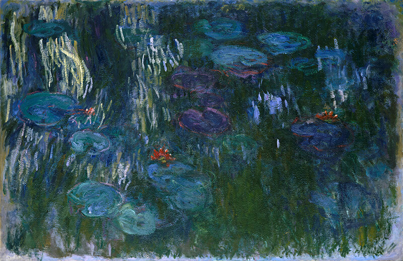 Claude Monet / Water Lilies 1916–19 / Oil on canvas / 130.2 x 200.7cm / Gift of Louise Reinhardt Smith 1983 / 1983.532 / Collection: The Metropolitan Museum of Art