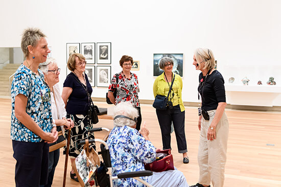 A guided tour of the Australian Collection for visitors with hearing loss.