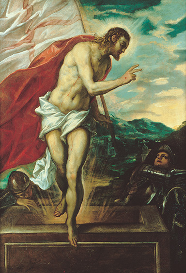 Tintoretto, Venice  1518 94 / Cristo risorgente (The risen Christ)  c.1555 / Oil on canvas / Purchased 1981.  Queensland Art Gallery Foundation / Collection: Queensland Art Gallery