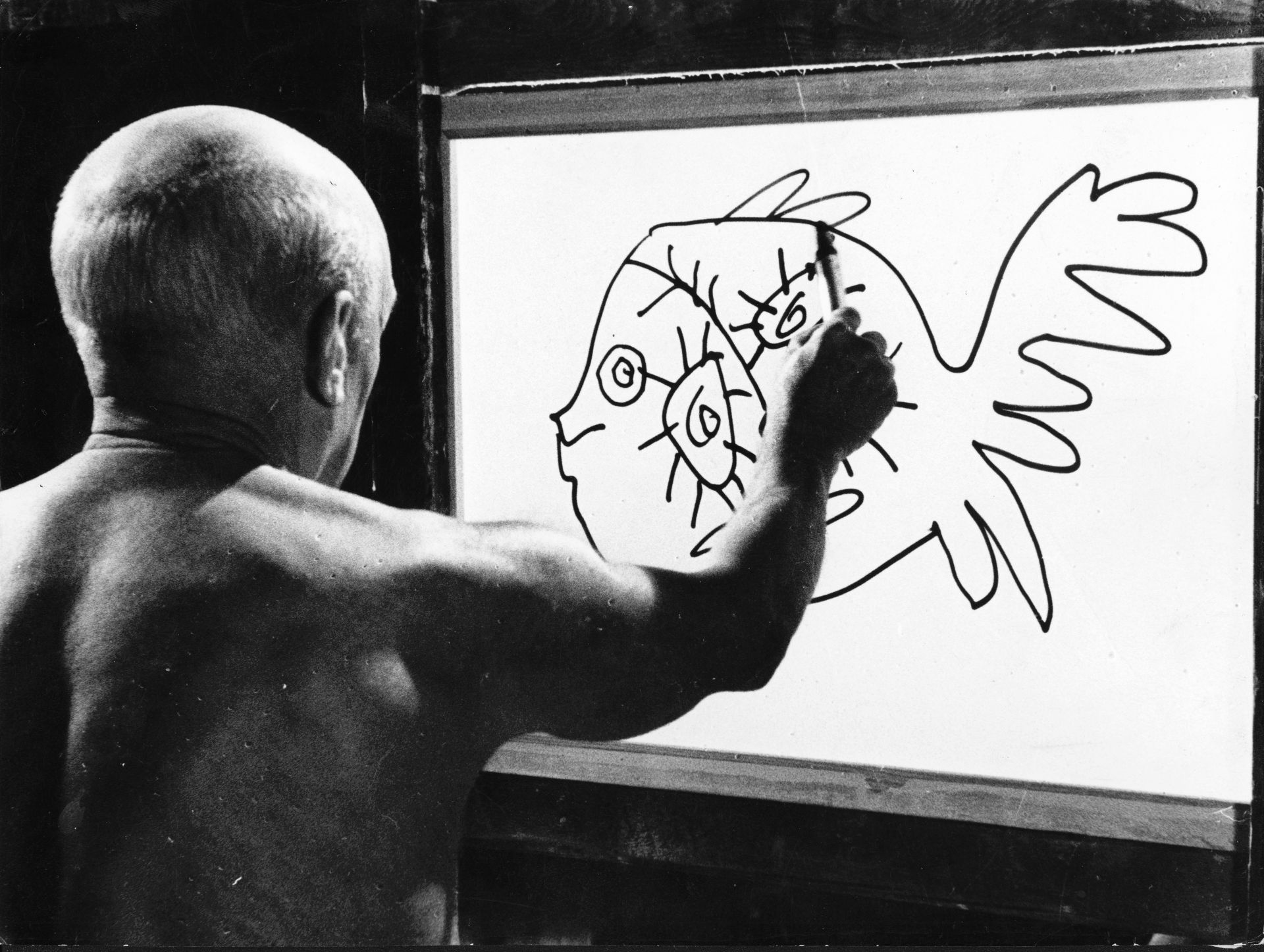 Production still from =The Mystery of Picasso 1955 | Director:  Henri-Georges Clouzot | Image courtesy: Gaumont ...