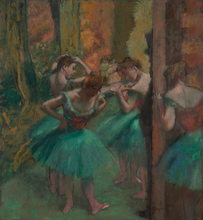 Edgar Degas / Dancers, Pink and Green c.1890 / Oil on canvas / 82.2 x 75.6cm / H. O. Havemeyer Collection, Bequest of Mrs H O Havemeyer 1929 / 29.100.42 / Collection: The Metropolitan Museum of Art