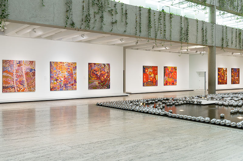 Installation view of 'Amata women's paintings'