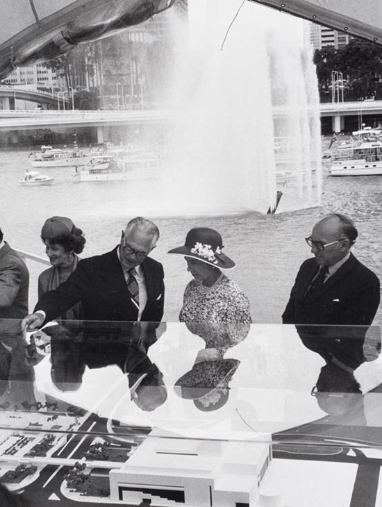 Queen Elizabeth at the Queensland Art Gallery site, 11 March 1977 / Collection: QAGOMA Research Library