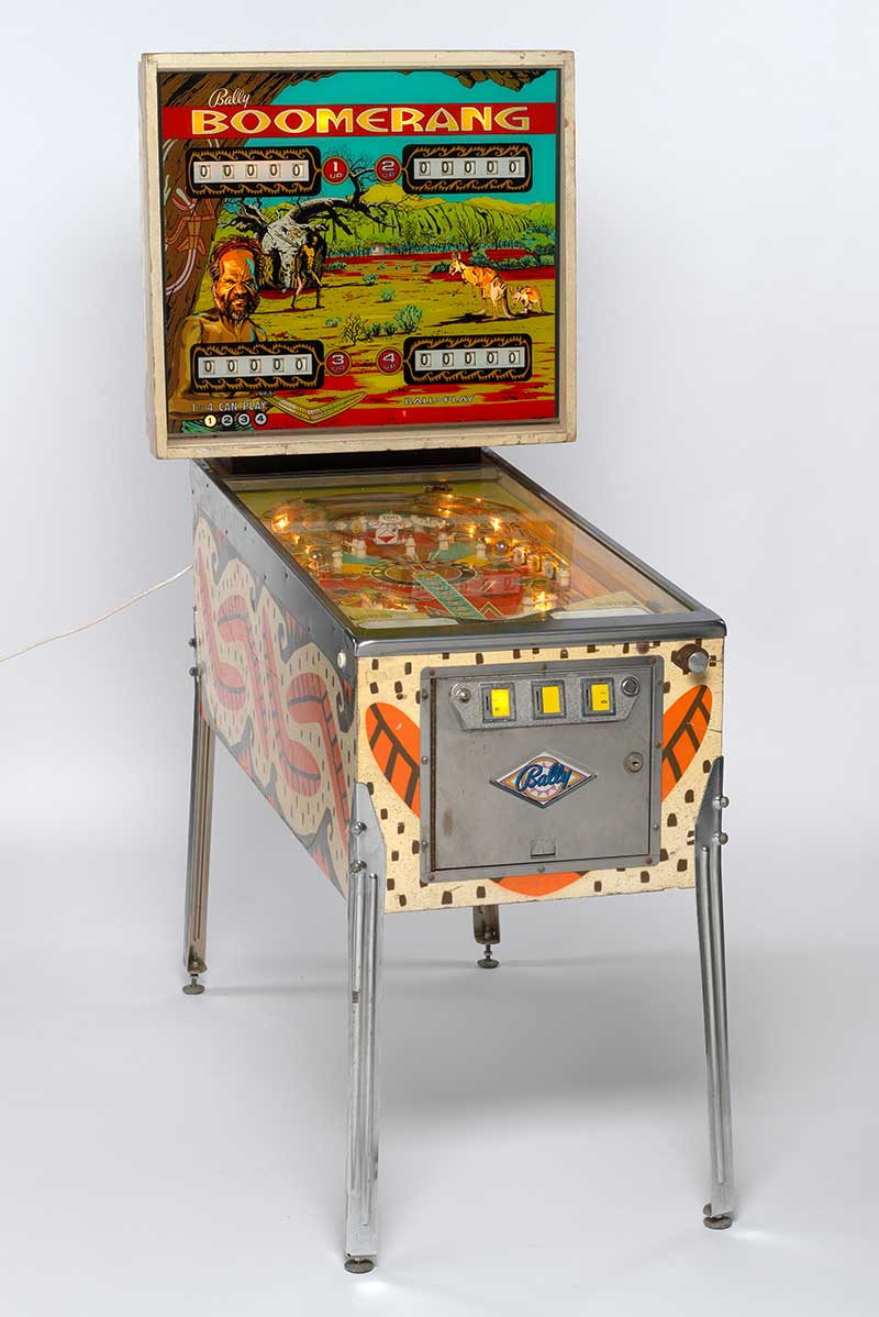 Vintage pinball machine from the Tony Albert collection of Aboriginalia