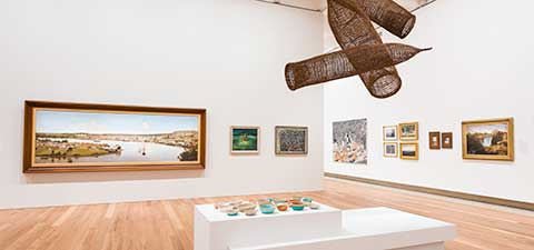 The Australian art collection at the Queensland Art Gallery / Photograph: Natasha Harth © QAGOMA