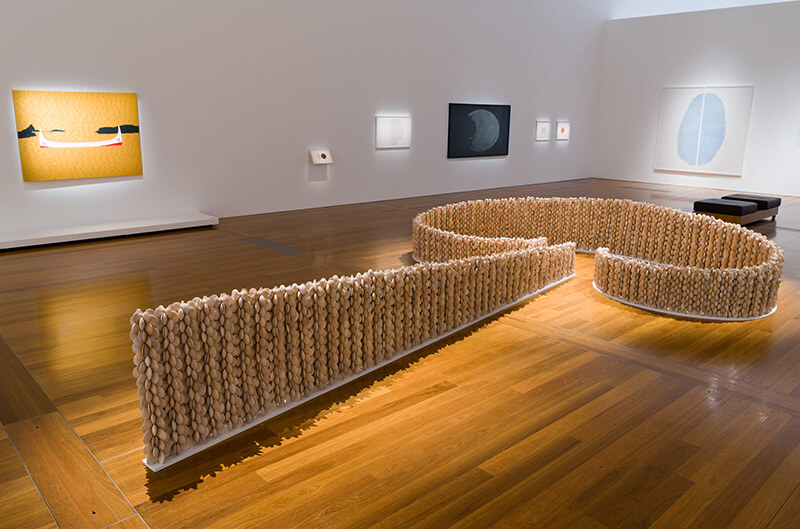 Chris Charteris, Aotearoa New Zealand b.1966 / Installation view of Te ma (Fish trap) 2014
