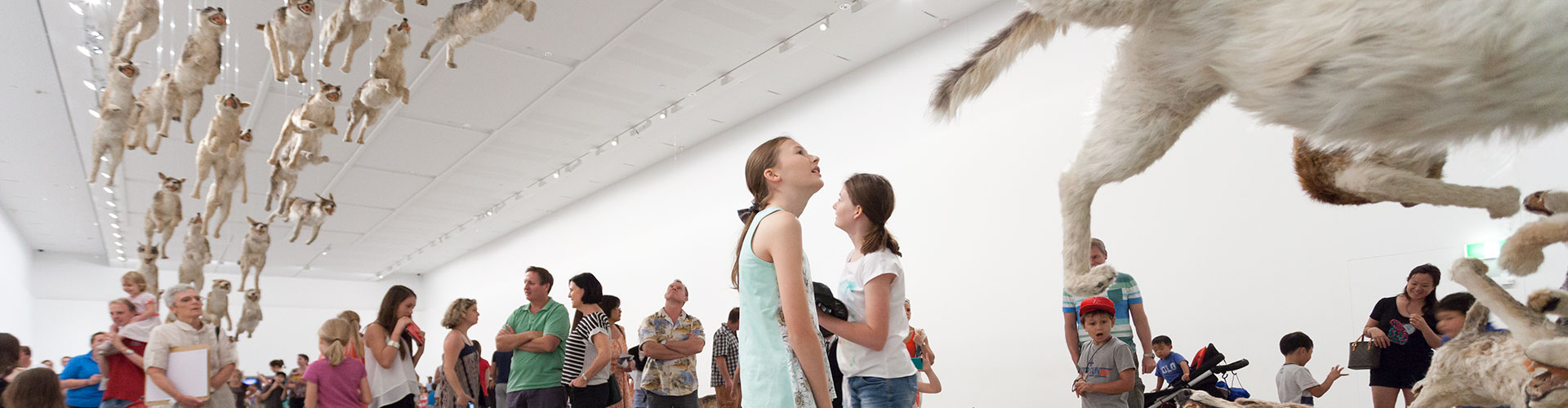 Cai Guo-Qiang's <em>Head On</em> was one of three spectacular installation works on display in 'Falling back to Earth' in 2013.