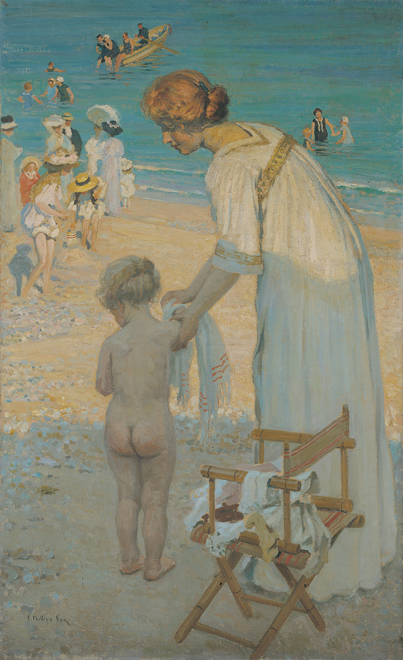 E Phillips Fox, Bathing hour (L'heure du bain) c.1909