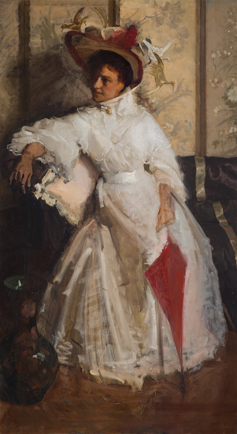 Hugh Ramsay, Portrait of Mrs L. Robertson (unfinished)
