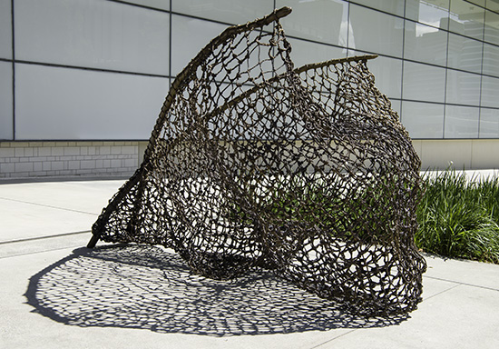 Judy Watson / Waanyi people / Australia b.1959 / tow row 2016 / Bronze / Commissioned 2016 to mark the tenth anniversary of the opening of the Gallery of Modern Art. This project has been realised with generous support from the Queensland Government, the Neilson Foundation and Cathryn Mittelheuser, AM, through the Queensland Art Gallery | Gallery of Modern Art Foundation / Collection: Queensland Art Gallery | Gallery of Modern Art / © Judy Watson