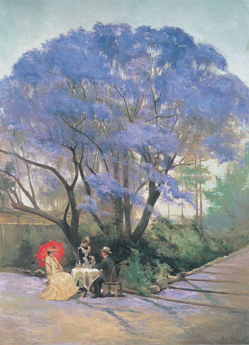 R. Godfrey Rivers Under the jacaranda