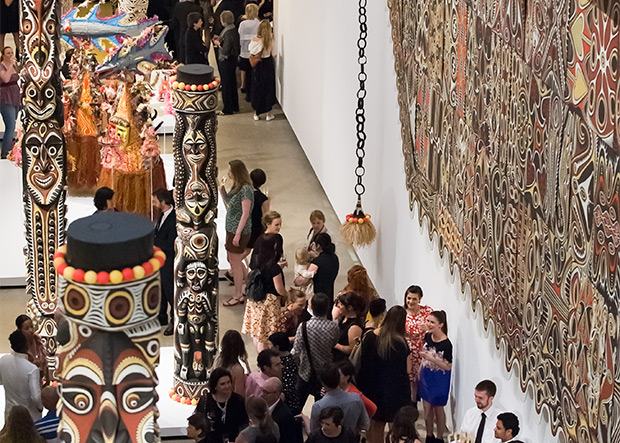 Guests enjoying 'The 7th Asia Pacific Triennial of Contemporary Art' Preview at GOMA / Photograph: Natasha Harth