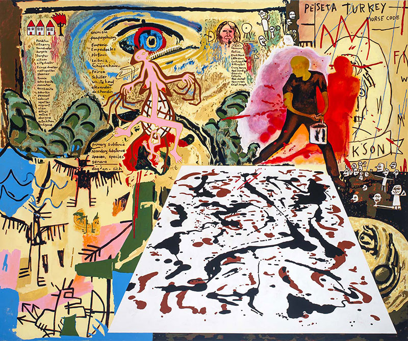 Gordon Bennett, Australia 1955-2014 / Notes to Basquiat: Bird 2001