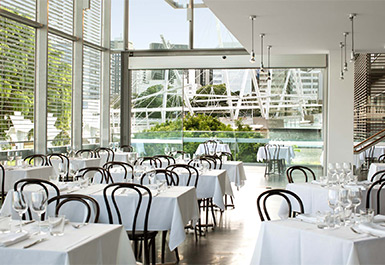 Dining at the GOMA Restaurant