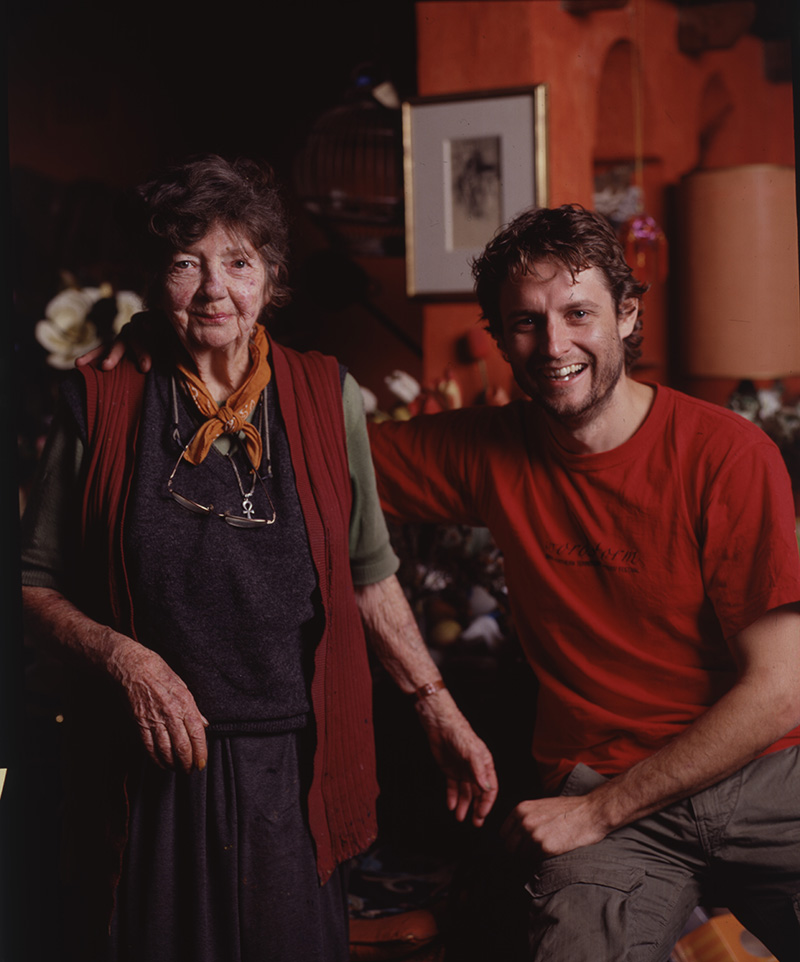 Artists Margaret Olley and Ben Quilty, 2005