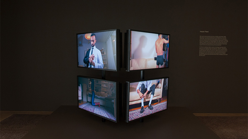 Hetain Patel , United Kingdom b.1980 / The Other Suit 2015 / Four-channel HD video installation, 16:9, 4:42 minutes, colour, sound, ed. of 5 / Courtesy: The artist and Chatterjee & Lal, Mumbai / © The artist