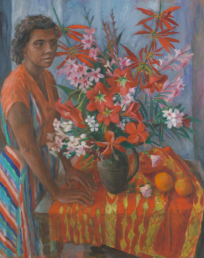 Margaret Olley, Australia 1923-2011 / Susan with flowers 1962