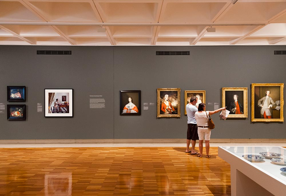 Visitors at the QAG Collection Galleries