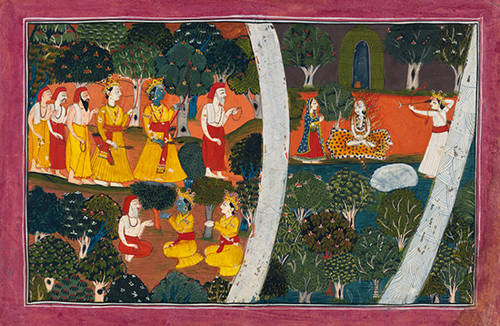 Unknown, India, The sage tells Rama and Laksmana of KamaÕs attempt to distract Siva c.1800