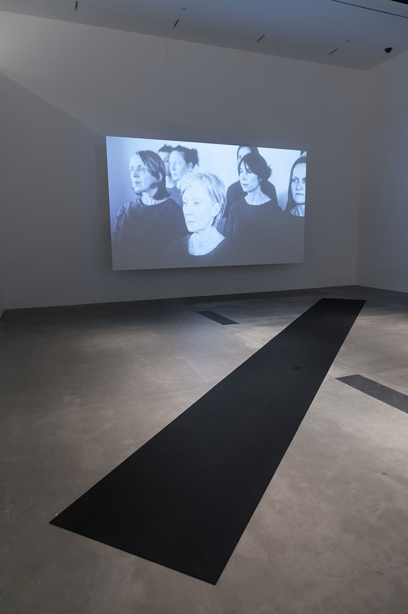 Mangano's video work installed in APT8