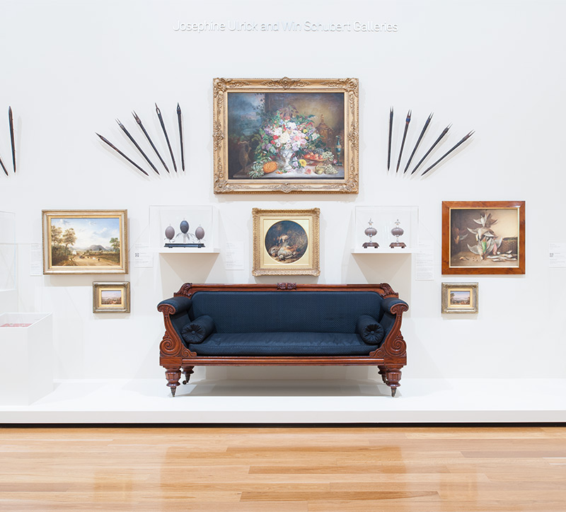 Installation view of the Australian Collection