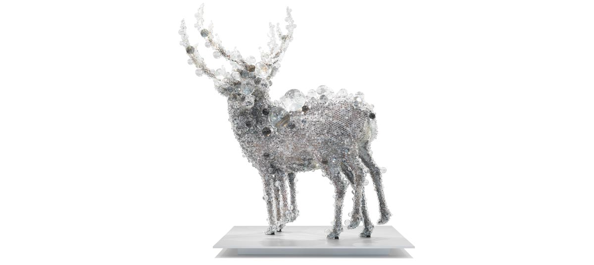 Kohei Nawa, Japan b.1975 / PixCell-Double Deer#4 2010 / Mixed media / Purchased 2010 with funds from the Josephine Ulrick and Win Schubert Diversity Foundation through the Queensland Art Gallery Foundation / Collection: Queensland Art Gallery / Collection: Queensland Art Gallery / © The artist